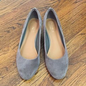 New gray suede Clarks